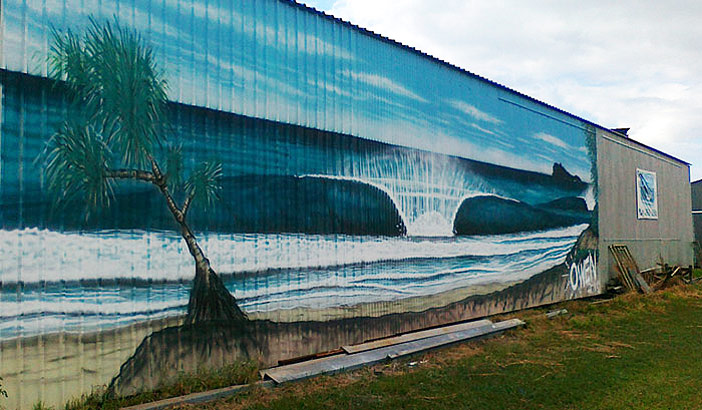 Owen's mural has become a cornerstone image of the area // Source Facebook